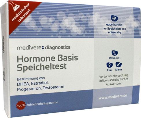 Hormonen Basis speekseltest (DHEA, Estradiol, Progesteron, Testosteron)