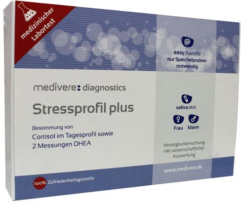 Stressprofiel Plus speekseltest (cortisol, DHEA dagprofiel)