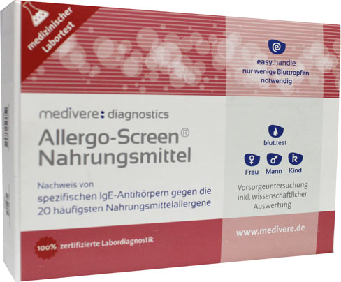 Allergo-Screen Voedingsmiddelen IgE (20 meest voorkomende voedselallergenen) bloedtest