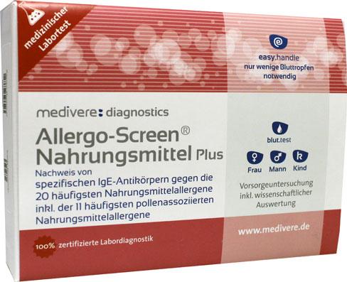 Allergo-Screen IgE Voedingsmiddelen Plus (voeding, dieren, mijten, schimmels en pollen) bloedtest