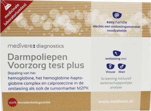 Darmpoliepen preventietest Plus (marker M2PK, Calprotectine, Hemoglobine en Hemoglobine-Haptoglobine-complex)