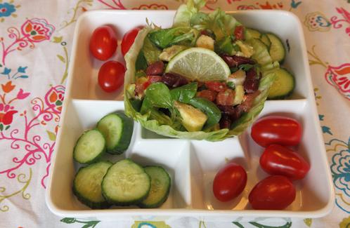 Avocadosalade met nierbonen