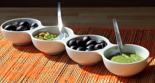 Groene salade met haring en radijs